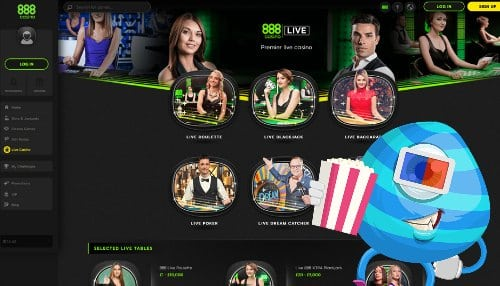 Make sure to try out the live casino at 888 casino